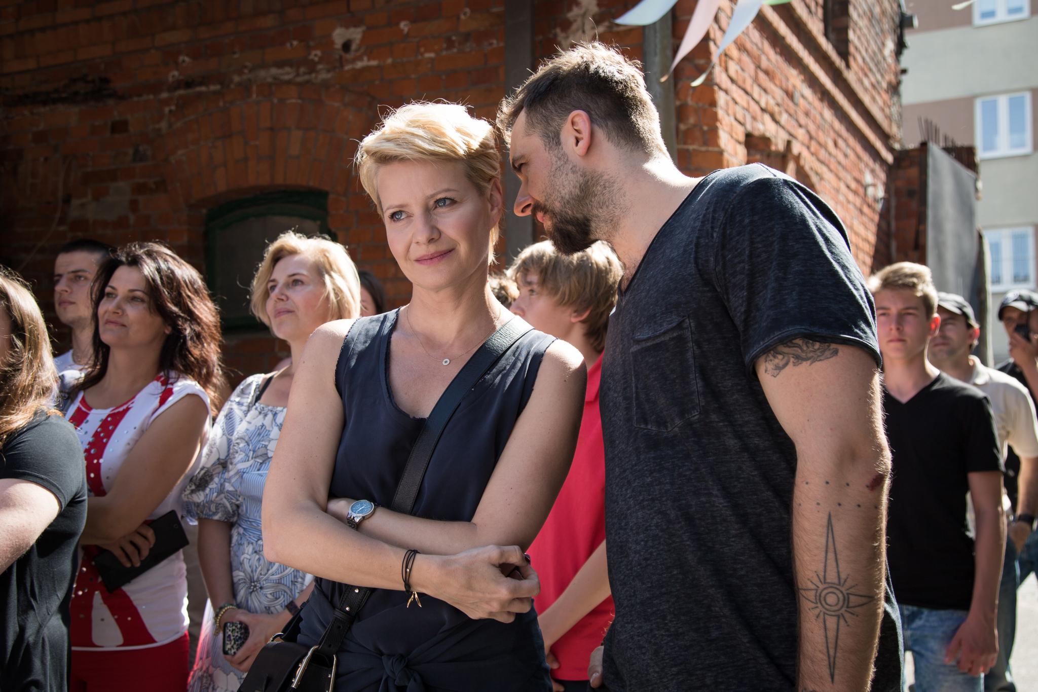 Piotr Marczak (Michał Żurawski) i Monika Borecka (Małgorzata Kożuchowska)
